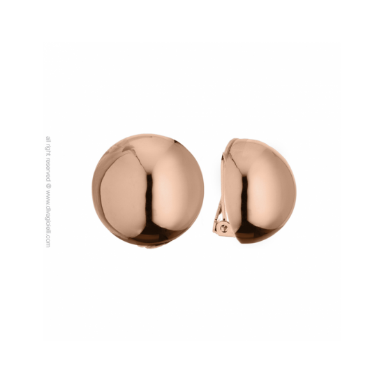 16988RP - Earrings - Luce. clip. ø22. rosé gold poly - 100004