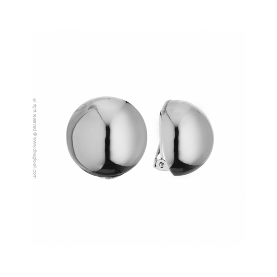 16988ZP - Earrings - Luce. clip. ø22. rhodium poly - 100006