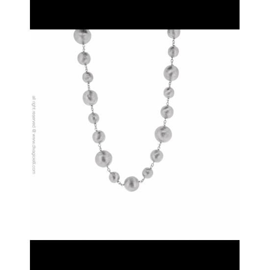 17289ZM - Necklace - Luce. rhodium scratched - 100009