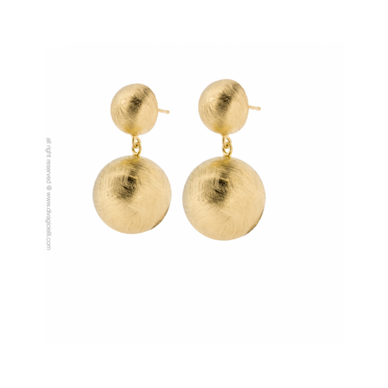 17296GM - Earrings - Luce pendant. gold - 100019