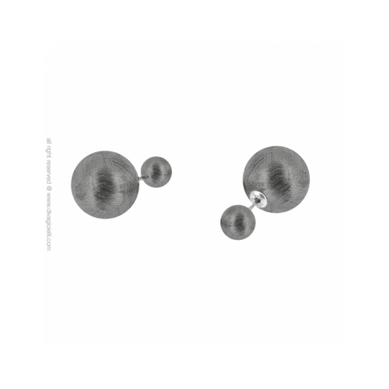 17329DM - Earrings - Eclisse. burnished scratched. pair - 100022