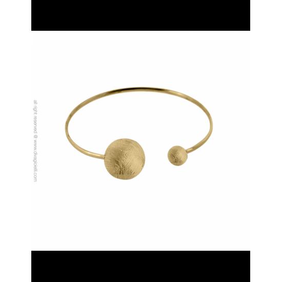 17334GM - Bracelet - Eclisse. gold scratched
