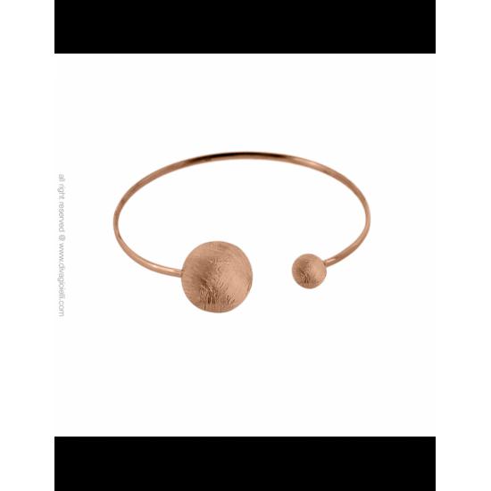 17334RM - Bracelet - Eclisse. rosé gold scratched