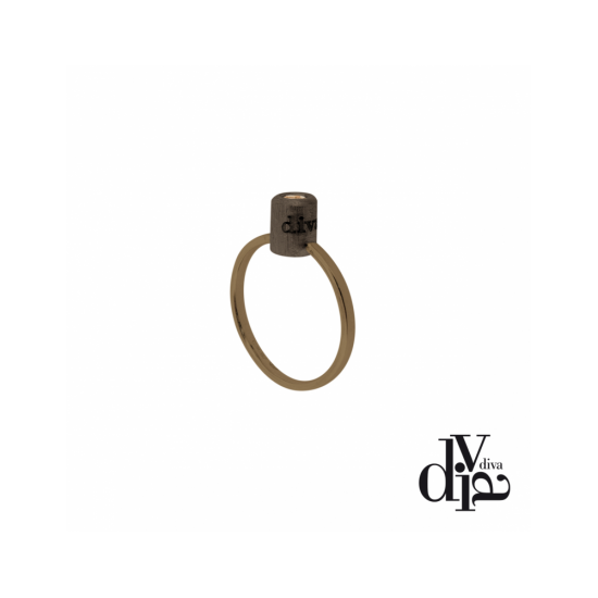 17371BM - Ring - Olla, size 16, brown - 100084