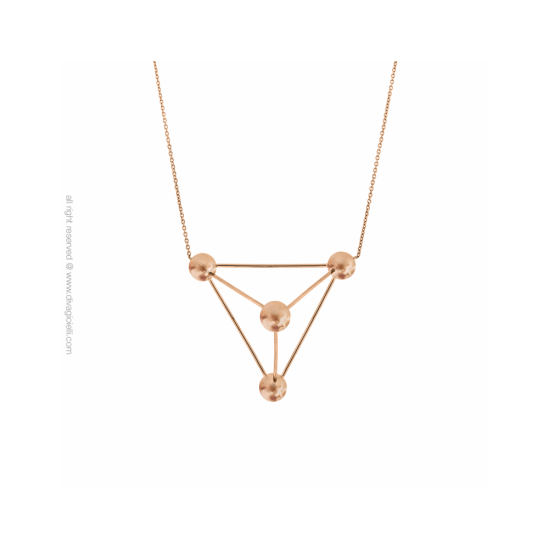 17429RM - Necklace - Eclisse. Galaxy. rosé gold scratched - 100156