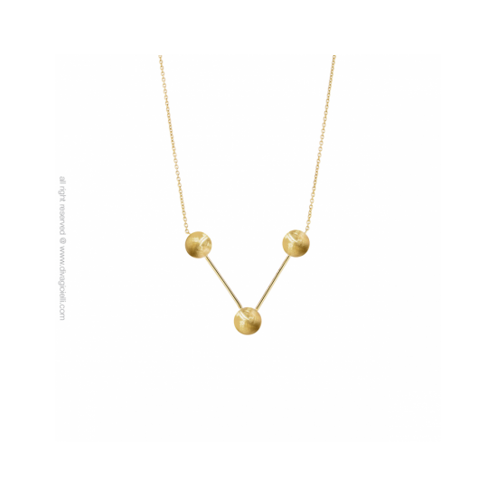 17430GM - Necklace - Eclisse. Galaxy. gold scratched - 100159