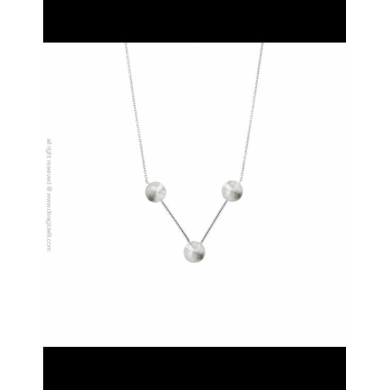 17430ZM - Necklace - Eclisse. Galaxy. rhodium scratched - 100161