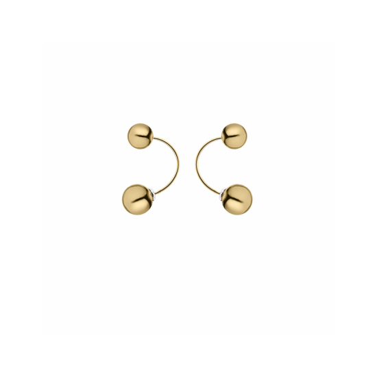 17433GP - Earring - Eclisse. Galaxy. gold poly