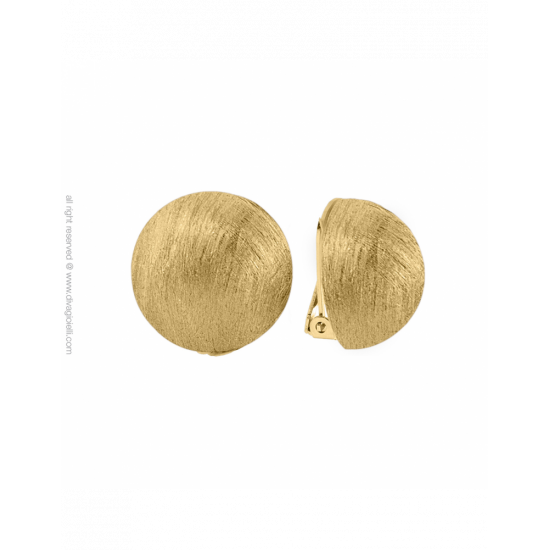 16988GM - Earrings - Luce. clip. ø22. gold scratched