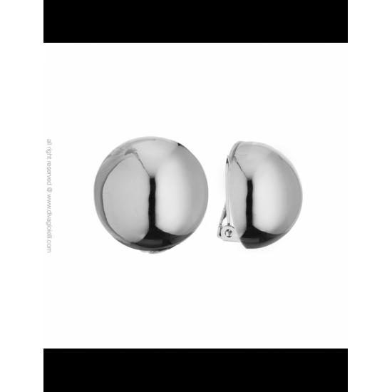 16988ZP - Earrings - Luce. clip. ø22. rhodium poly