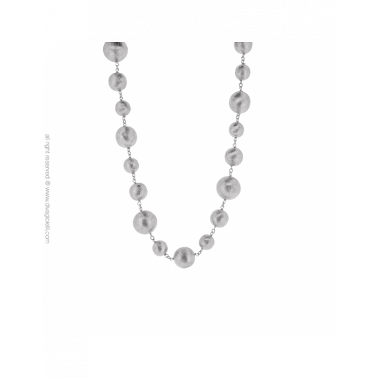 17289ZM - Necklace - Luce. rhodium scratched