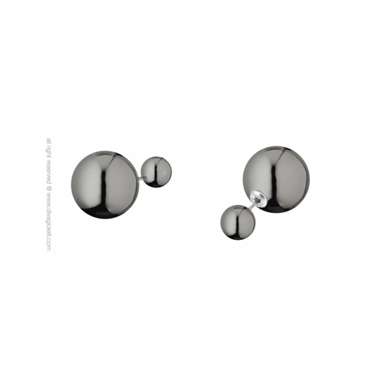 17329DP - Earrings - Eclisse. gold scratched. pair