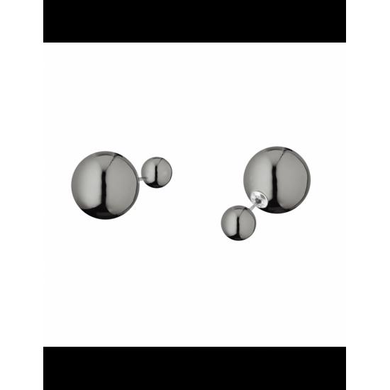 17329DP14 - Earrings - Eclisse. dark silver poly. pair