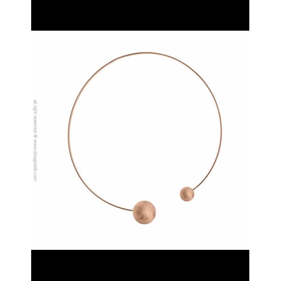 17333RM - Necklace - Eclisse. rosé gold scratched