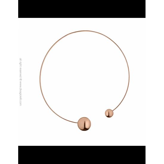 17333RP - Necklace - Eclisse. rosé gold poly