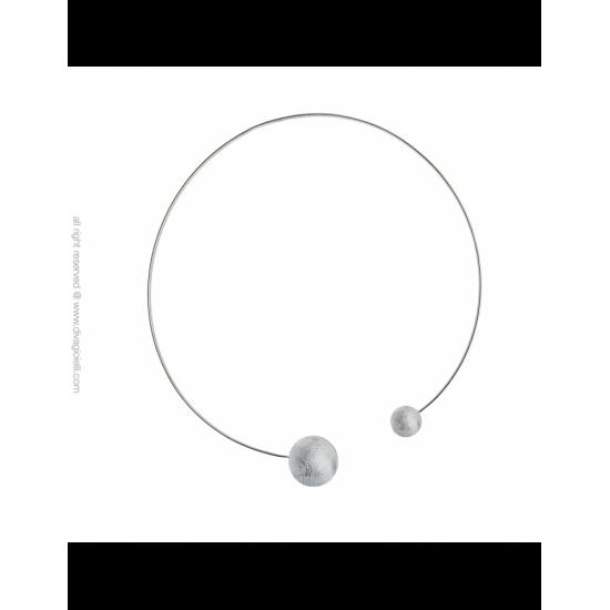 17333ZM - Necklace - Eclisse. rhodium scratched
