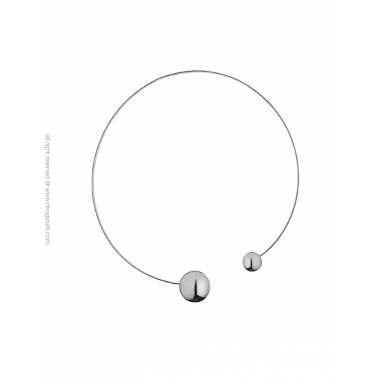 17333ZP - Necklace - Eclisse. rhodium poly