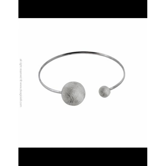 17334ZM - Bracelet - Eclisse. rhodium scratched