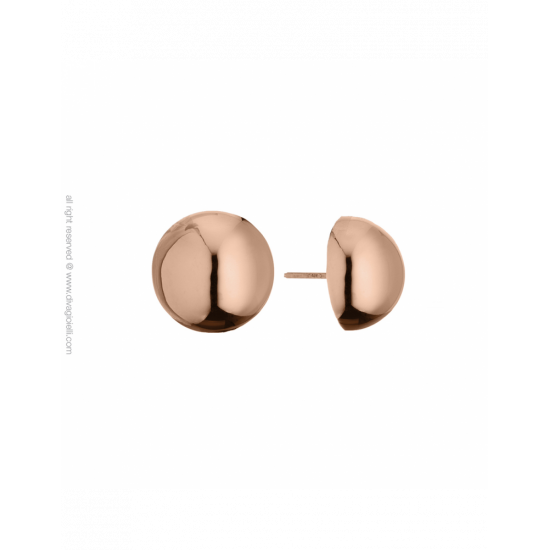 17349RP - Earrings - Luce. ø14. rosé gold poly