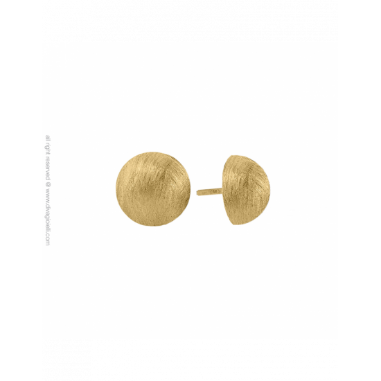 17350GM - Earrings - Luce. ø12. gold scratched