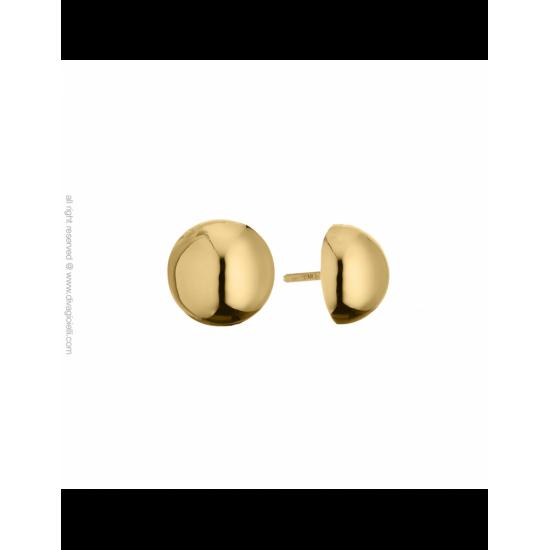 17350GP - Earrings - Luce. ø12. gold poly