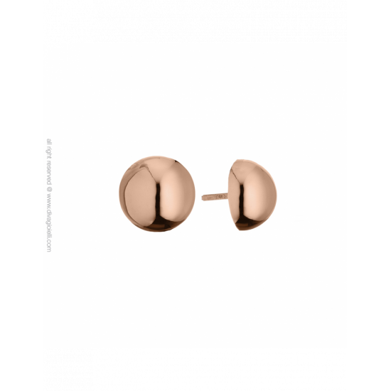 17350RP - Earrings - Luce. ø12. rosé gold poly