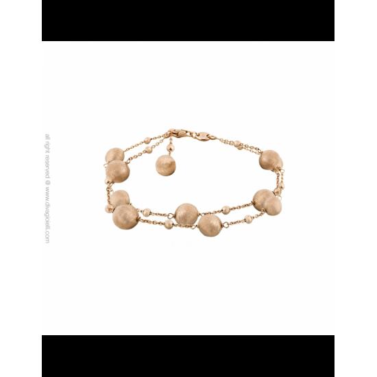 17355RM - Bracelet - Stella. two threads. rosé gold