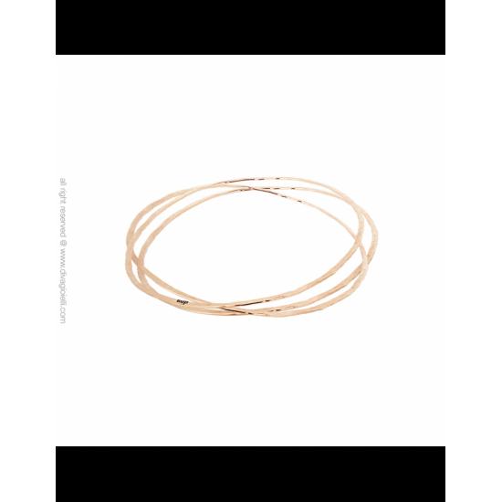 17368RM - Bracelet - Audace. Balance. roségold hammered