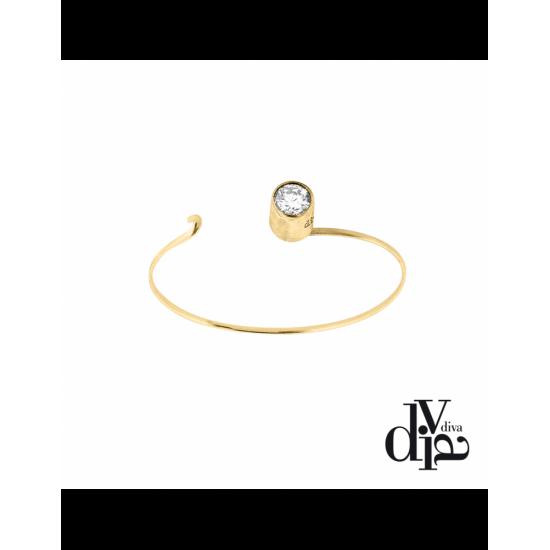 17376GM - Bracelet - Olla. zircon ø8. gold