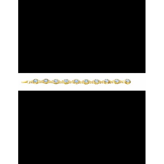 40-AA-803AQUA - Armband. 8x6 10x