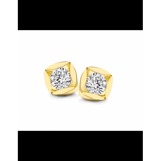 40-SMD02K-0,40 - 2 Diamanten P/S Mid:0.20crt Tot: 0.40crt G/VSI