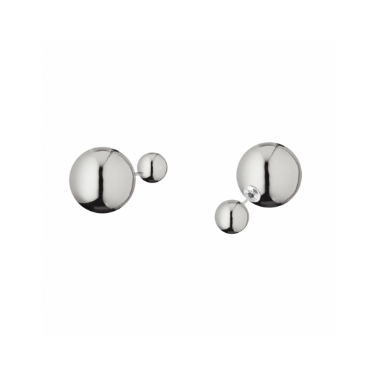 17329ZP - Earrings - Eclisse. silver poly. pair